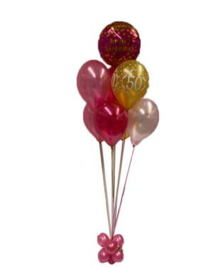 Ballongbukett: Pink Bash - Happy Birthday