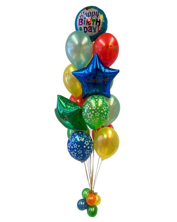 Ballongbukett: Birthday of a Shining Star