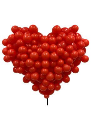 Bubble Heart: Rød