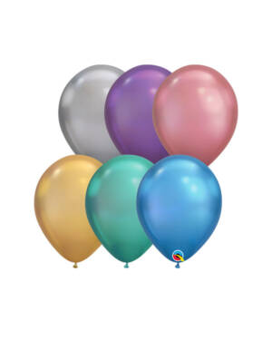 Lateksballong: Chrome - Flere farger - 28cm - Per stk
