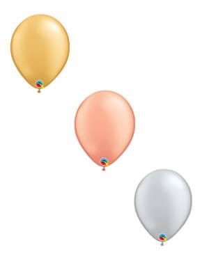 Lateksballong: Flere farger (Metallic) - 28cm - Per stk
