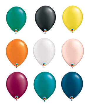 Lateksballong: Flere farger (Pearl Tone) - 28cm - Per stk