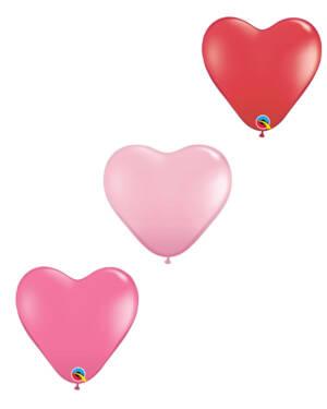 Lateksballong: Hjerte - 38cm - Per stk