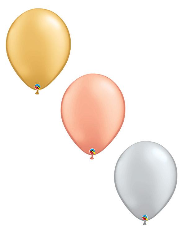 Lateksballong: Metallic - 41cm - Per stk