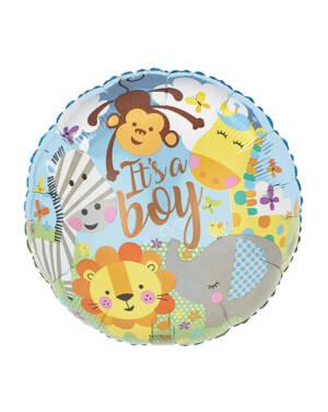 "Folieballong: ""It's a boy"" - Zoo - 43cm"