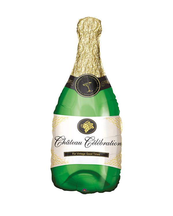 Folieballong: Champagneflaske - 34cm
