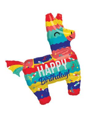 "Folieballong: ""Happy Birthday"" - Pinata - 73 x 83cm"