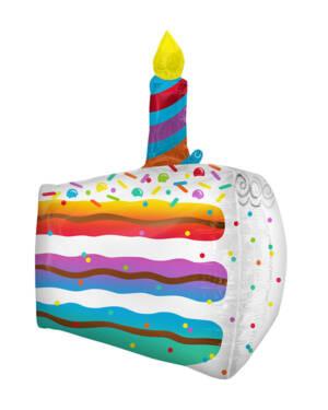 Folieballong: Kake med Lys - 48 x 63