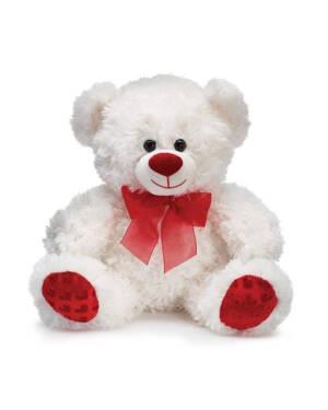 Bamse: Valentine Bjørn med Rød Sløyfe - 25cm