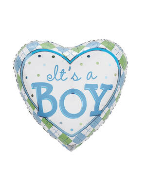 "Folieballong: ""It's a Boy"" - Hjerteformet - 43cm"