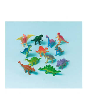 Pinata Fyll - Dinosaurer (12stk): Assorterte farger