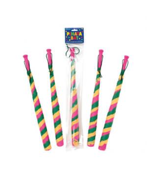 Klubbe / Pinne: til Pinata (i tre) - Fargerik - 45cm