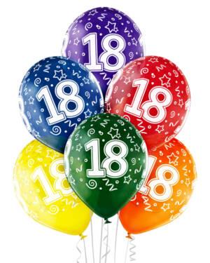 "Ballongbukett: Tall Regnbue - ""18"""