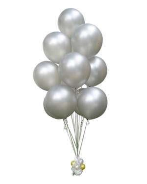 Ballongbukett: Silver it is! Jumbo