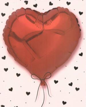 Kort: Hjerteballong