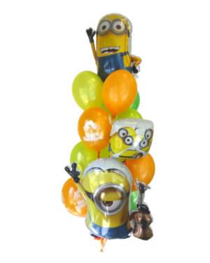Ballongbukett: Minions Bursdag