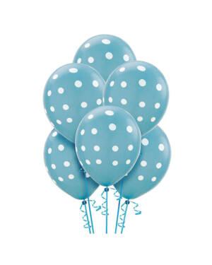Ballongbukett: Polka Dots - Turquoise