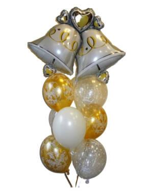 Ballongbukett: Bryllupsklokker