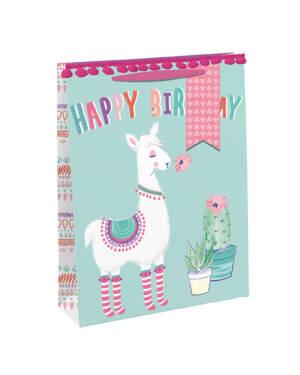 """Gavepose: """"Happy Birthday"""" - Lama - Medium"""