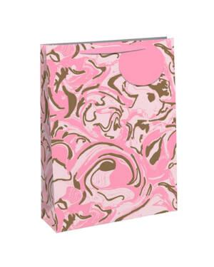Gavepose: Rosa Glitter Marmor - Stor