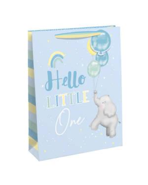 """Gavepose: """"Hello Little One"""" & Elefant - Stor"""