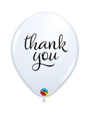 "Lateksballonger (25stk): ""Thank You"" - 28cm"