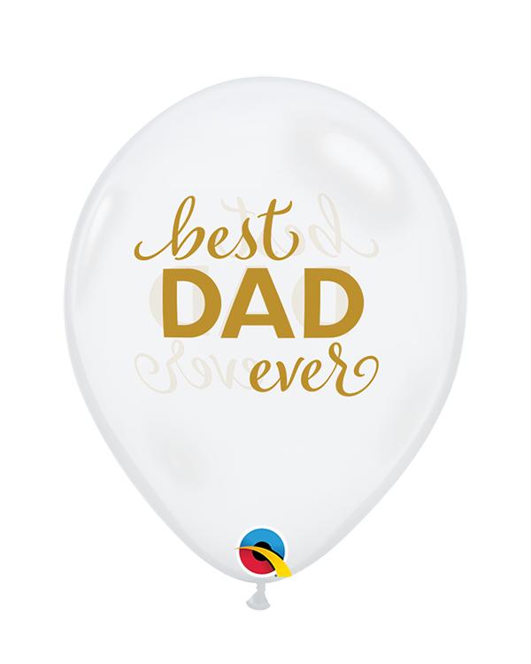 """Lateksballonger (25stk): """"Best Dad Ever"""" - 28cm"""