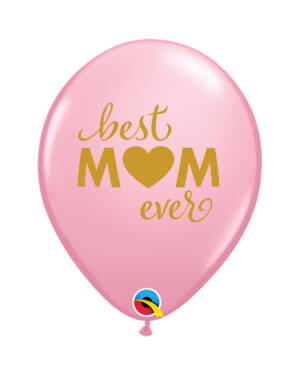 "Lateksballonger (25stk): ""Best Mom Ever"" - 28cm"