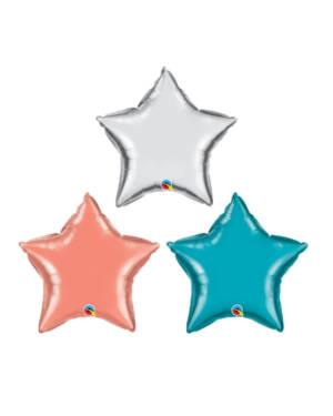 Folieballong: Stjerne - Flere farger - 51cm