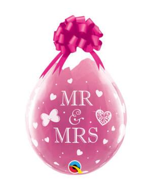 Gave i Ballongen (25stk): MR & MRS - 48cm