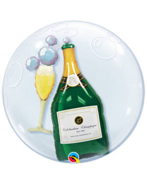 Folieballong: Champagne & Glass - 61cm