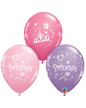 """Lateksballonger (50stk): """"Princess"""" - 28cm"""