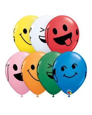 Lateksballonger (25stk): Smiley - Assortert - 28cm