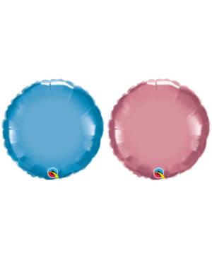 Folieballong: Sirkel - Chrome - Flere farger - 45cm