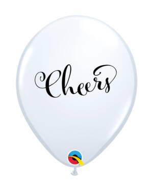 """Lateksballonger (25stk): """"Cheers"""" - 28cm"""
