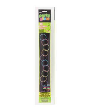 Glowsticks (10stk): Selvlysende Halskjeder - 56cm