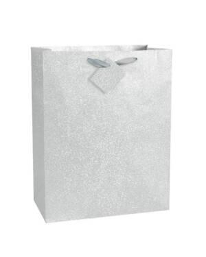 Gavepose: Sølv - 30 x 27cm