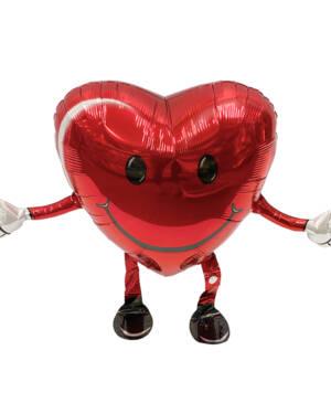 Folieballong: Gående hjerte