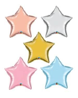 Folieballong: Stjerne - Flere farger - 23cm