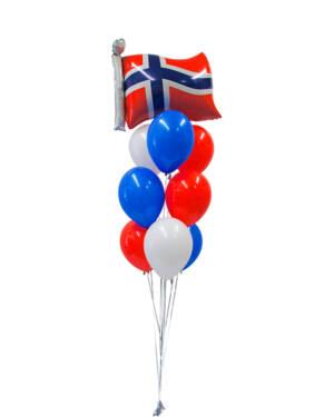 Ballongbukett: Ja vi elsker Norge