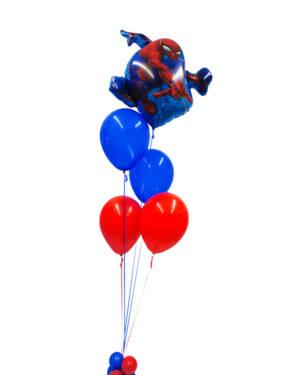 Ballongbukett: Spiderman Red & Blue