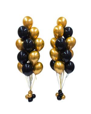 Ballongbukett: Gold & Black Party