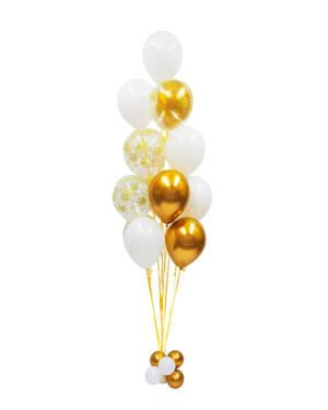 Organisk Ballongbukett: Golden & Marble Birthday