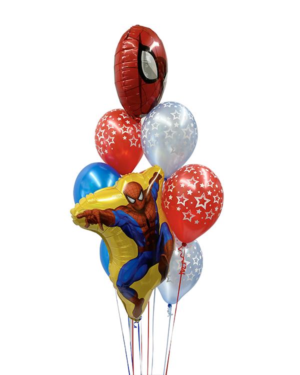 Ballongbukett: Spiderman Stars