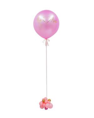 Jumbo ballong: Rosa med sløyfe