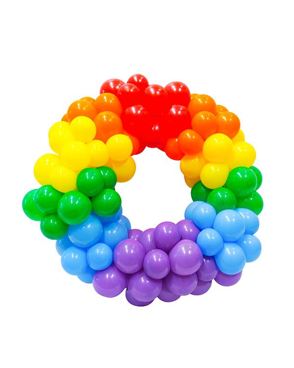 Bubble Circle: Regnbue