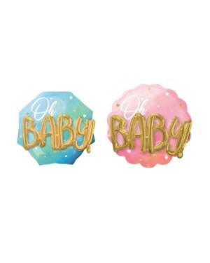 """Folieballong: """"Oh Baby"""" - Flere farger - 76 x 71cm"""