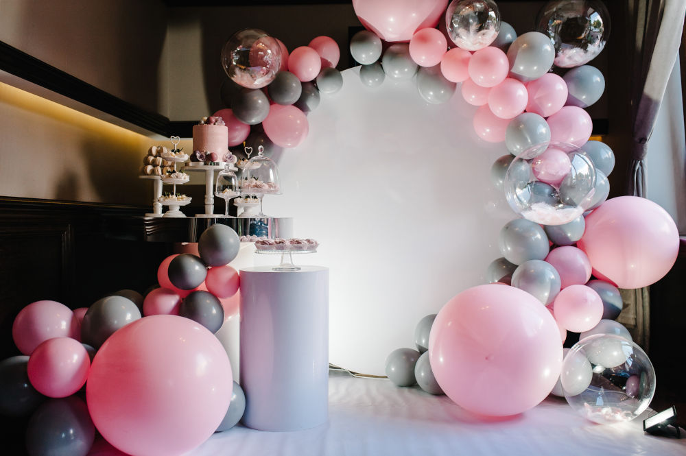 Organisk ballongdekor front