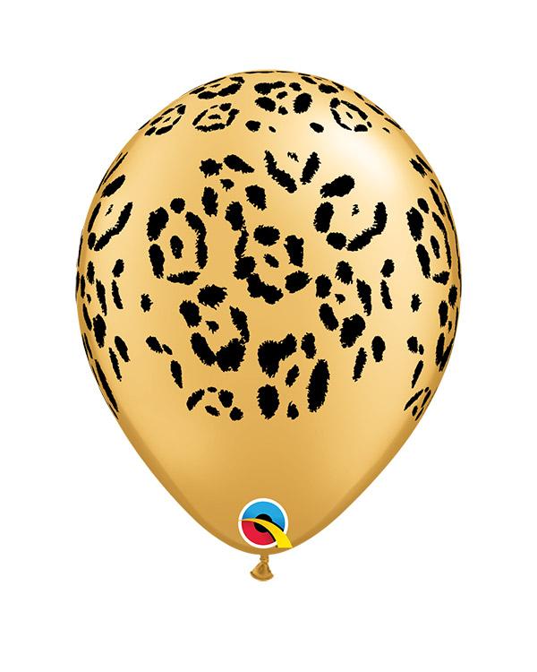 Lateksballonger (25stk): Leopard Mønster - 28cm