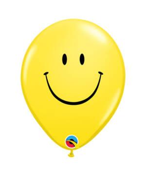 Lateksballonger (6stk): Emoticon - Smiley - 28cm
